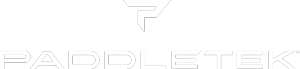 Paddletek white logo 300px