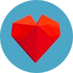 See the heart social icon