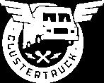 Clustertruck white logo